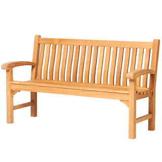 5ft teak victoria memorial bench with carved inscription - 1.55m memorial bench