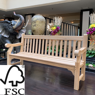 6ft FSC certified teak winchester park bench with carved inscription - 1.8m memorial bench