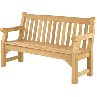 5ft FSC certified roble Royal Park memorial bench with carved inscription - 1.5m memorial bench
