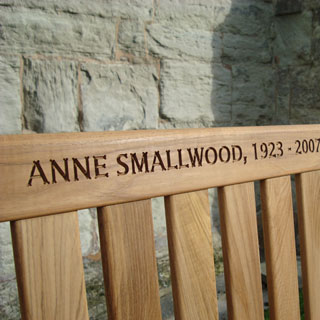 Memorial Benches Computerised Wood Engraving