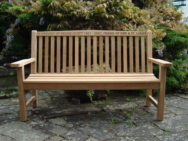 Memorial Benches Teak Classic Bench 1500