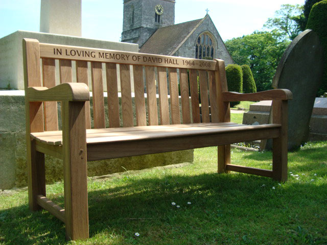 Wood Memorial Bench ~ Memorial benches britannia teak bench