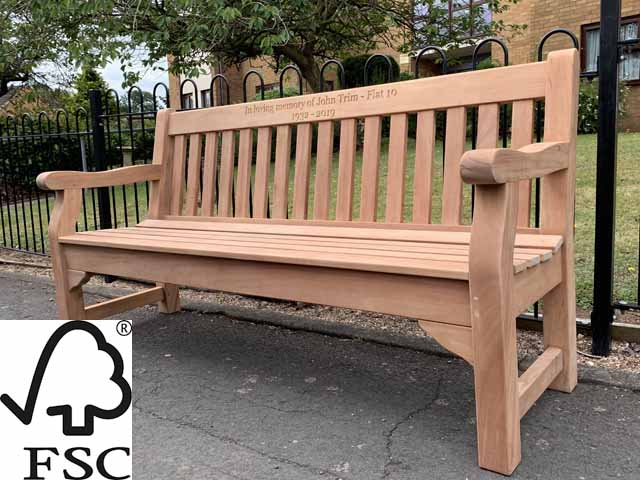 Terrific Memorial Benches Alexander Rose Royal Parkfsc Certified Pabps2019 Chair Design Images Pabps2019Com