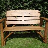 Memorial Benches Rustic Oak Bench 1200