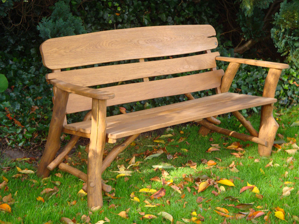 Memorial Benches Rustic Oak Bench 1700