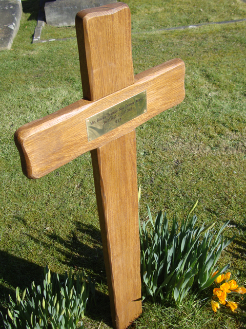 Rustic Oak Cross Grave Markers From 4memorialbench Co Uk