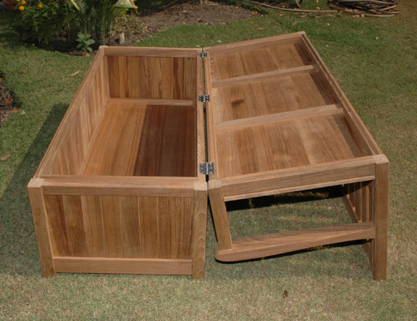 memorial benches - teak storage range